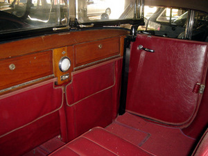 1923 Lincoln Convertible Interior