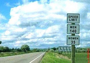 sexist speed limit