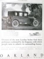 1925 Oakland Landau Sedan Automobile