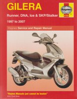Gilera Runner, DNA, Ice And SKP/Stalker Service And Repair Manual