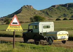 pothole sign